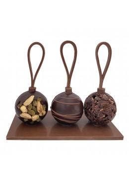Centre de table 3 boules de Noël Noir