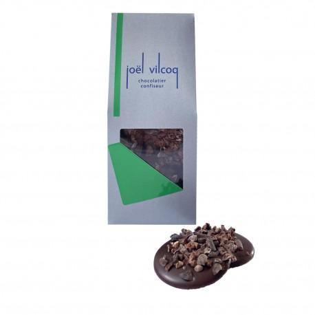 Palets chocolat noir grué
