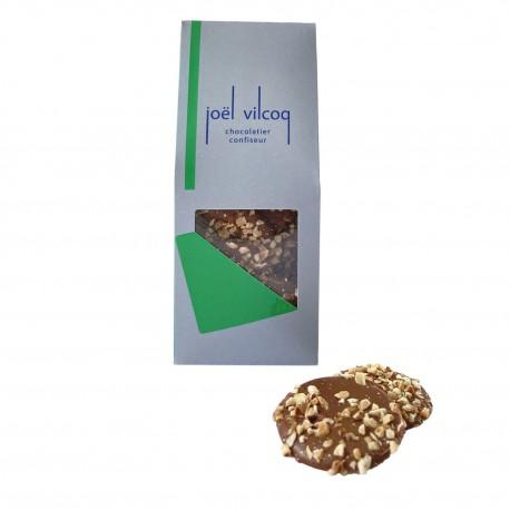 Palets chocolat au lait noisettes